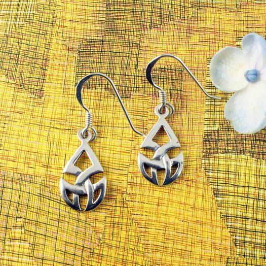 Silver Trinity Knot Drops E-0183-b