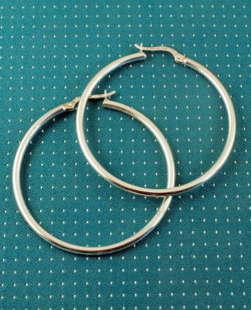 Sterling Silver 40mm Hoops E-0193-b