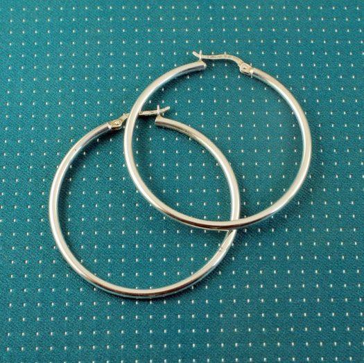 Sterling Silver 40mm Hoops E-0193-b