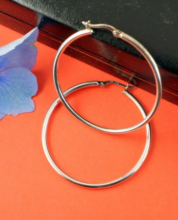 Sterling Silver 40mm Hoops E-0193-c