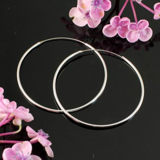 Sterling Silver 55mm Hoops E-0194-a