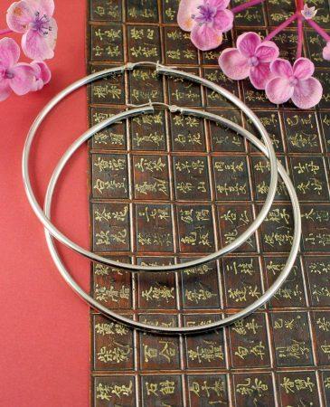 Sterling Silver 72mm Hoops E-0195-e