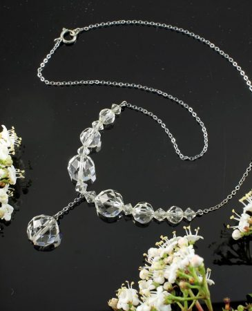 Swarovski Crystals Vintage Necklace N-0204-b