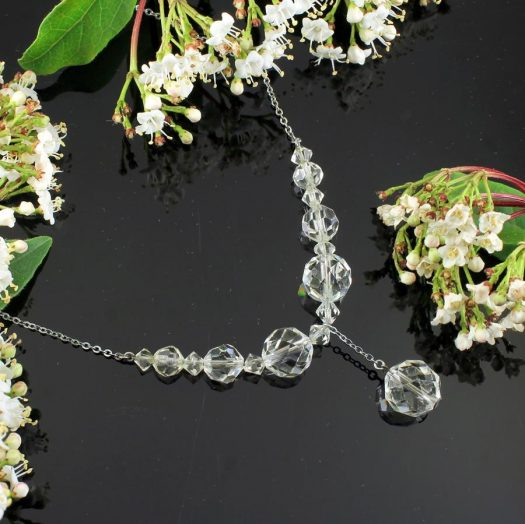 Swarovski Crystals Vintage Necklace N-0204-e