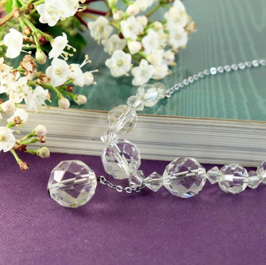 Swarovski Crystals Vintage Necklace N-0204-g