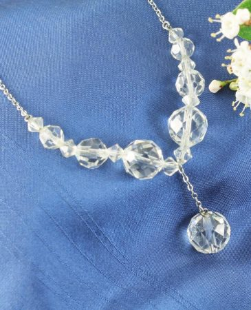Swarovski Crystals Vintage Necklace N-0204-h