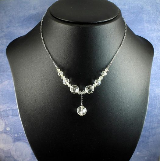 Swarovski Crystals Vintage Necklace N-0204-i