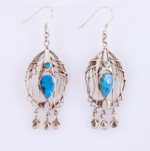 Turquoise Birdcage Earrings E-0125-i