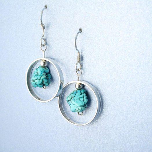 Turquoise Nugget Earrings E-0123-e