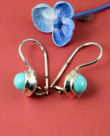 Turquoise Vintage Round Earrings E-0133-b