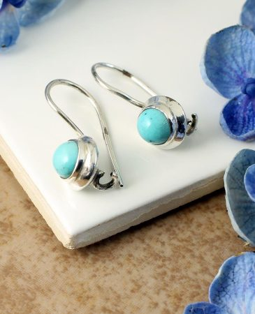 Turquoise Vintage Round Earrings E-0133-d