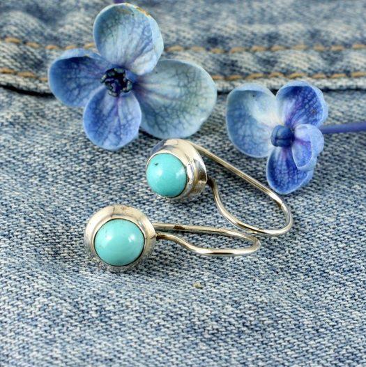 Turquoise Vintage Round Earrings E-0133-e
