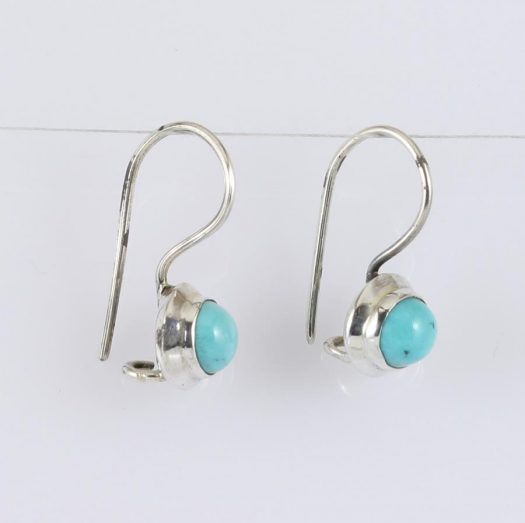 Turquoise Vintage Round Earrings E-0133-g