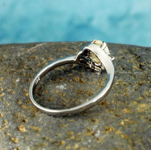 White Opal Ring R-0208-f
