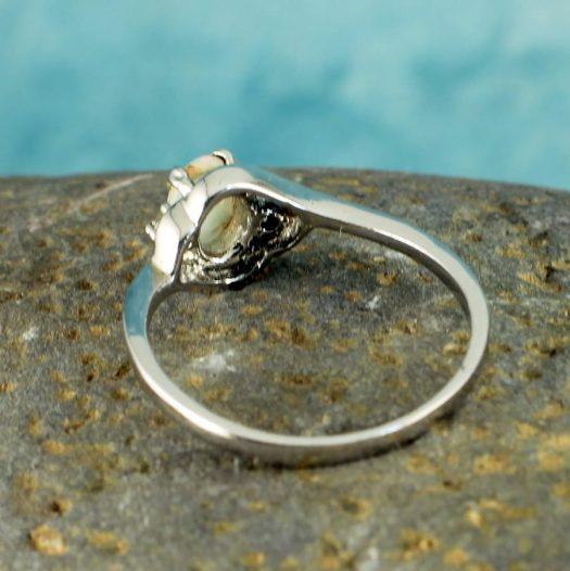 White Opal Ring R-0208-g