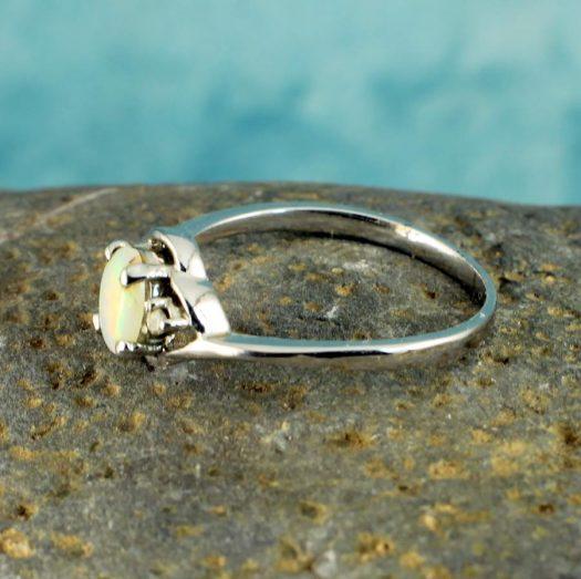 White Opal Ring R-0208-h