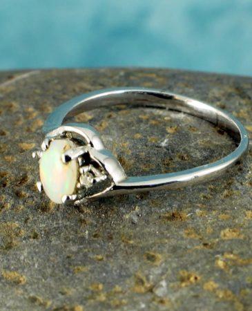 White Opal Ring R-0208-i