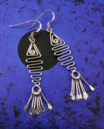 Wirework Fish Earrings E-0201-a