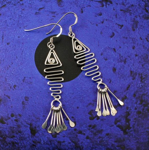 Wirework Fish Earrings E-0201-a