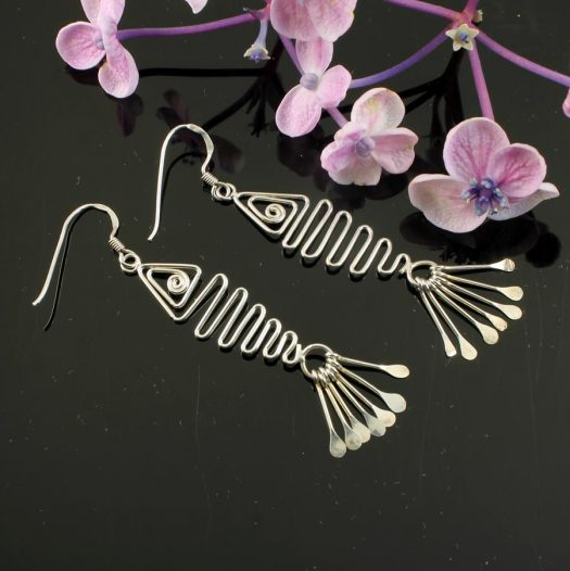 Wirework Fish Earrings E-0201-c