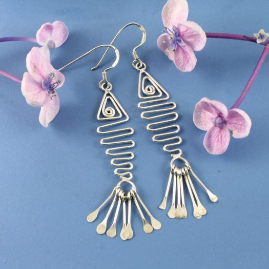 Wirework Fish Earrings E-0201-e