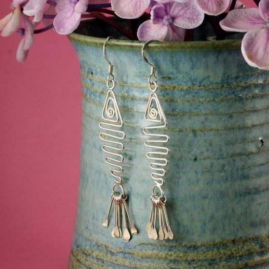 Wirework Fish Earrings E-0201-f