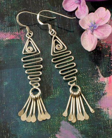 Wirework Fish Earrings E-0201-h