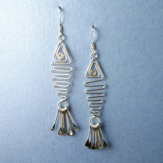 Wirework Fish Earrings E-0201-i
