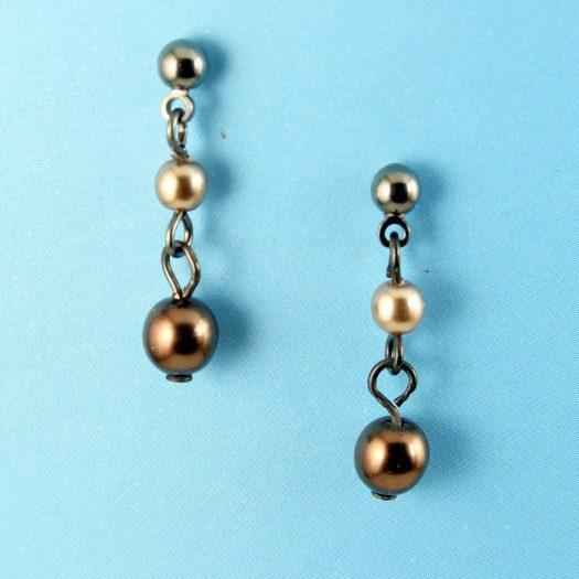 Bronze Gold Pearls E-0213-f