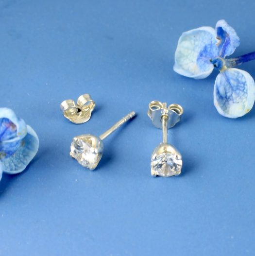 Clear Quartz Crystal Studs E-0221 -b
