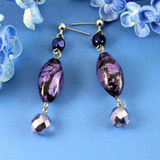 Lilac Pearl Drops E-0205-a