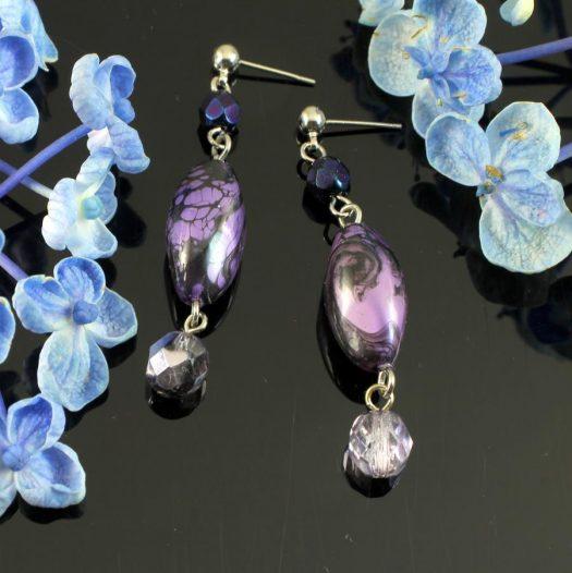 Lilac Pearl Drops E-0205-b