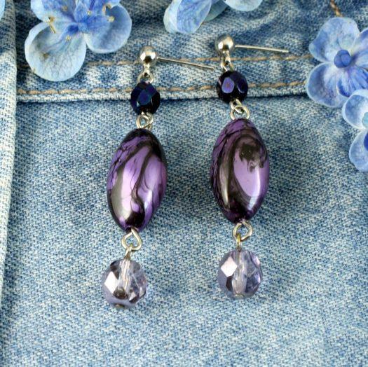 Lilac Pearl Drops E-0205-d