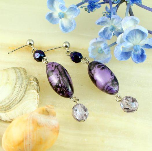 Lilac Pearl Drops E-0205-e