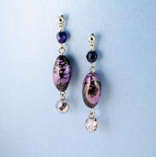 Lilac Pearl Drops E-0205-f