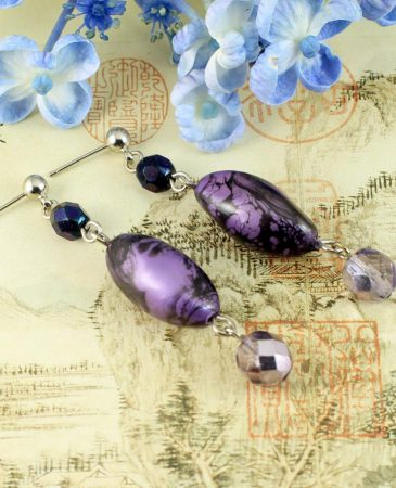 Lilac Pearl Drops E-0205-g
