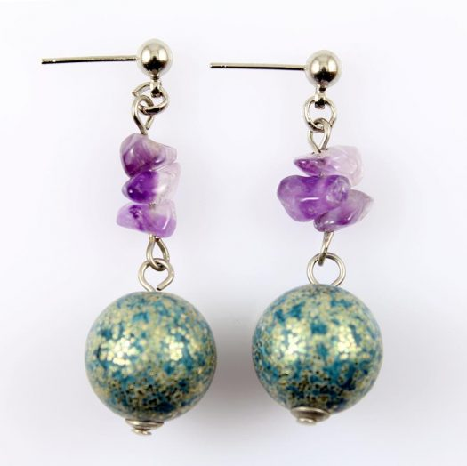 Marbled Teal Drops E-0207-c