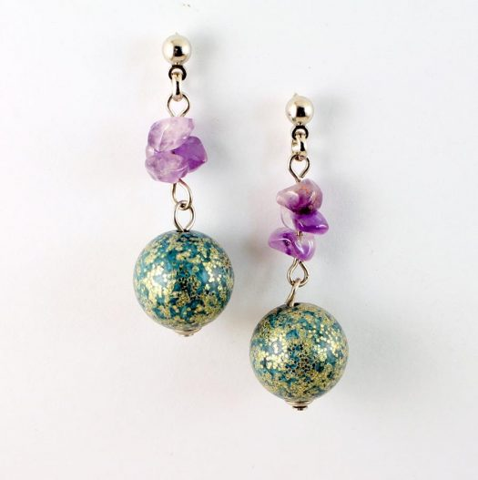 Marbled Teal Drops E-0207-d