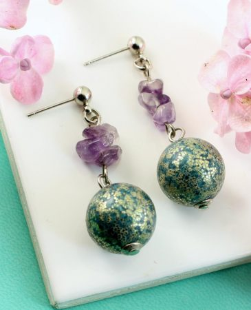Marbled Teal Drops E-0207-h