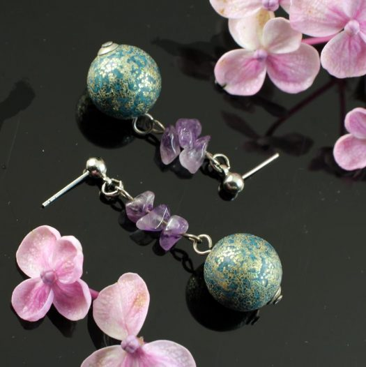 Marbled Teal Drops E-0207-i