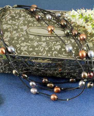 Floating Pearl Necklace N-0267-a