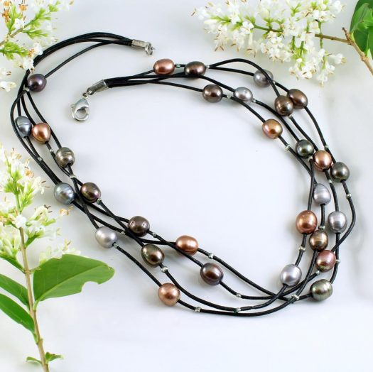 Floating Pearl Necklace N-0267-c