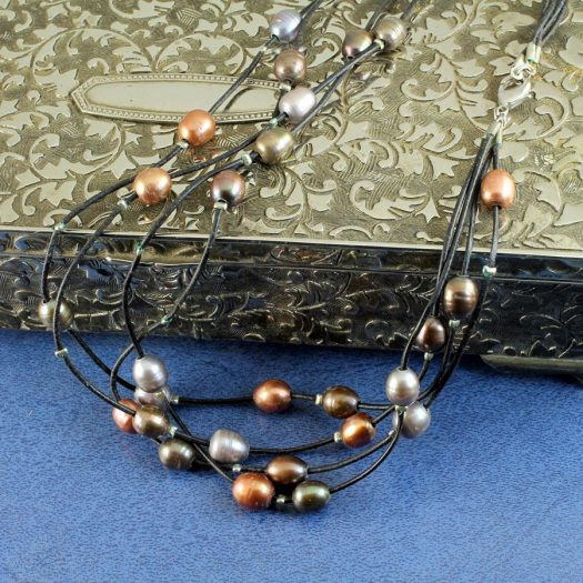 Floating Pearl Necklace N-0267-e