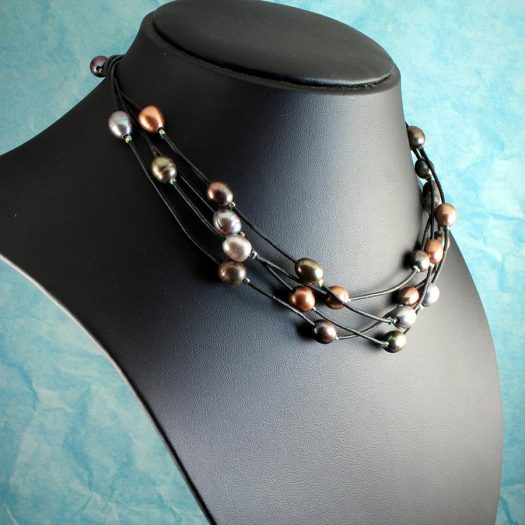 Floating Pearl Necklace N-0267-f