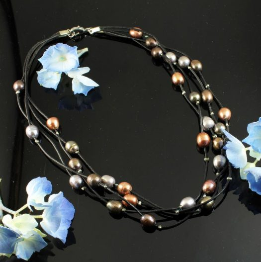 Floating Pearl Necklace N-0267-g