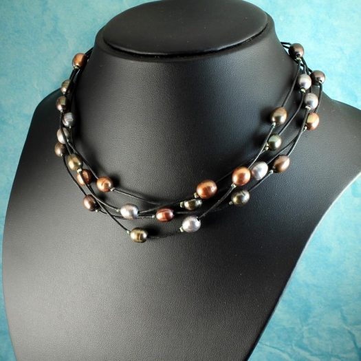Floating Pearl Necklace N-0267-h