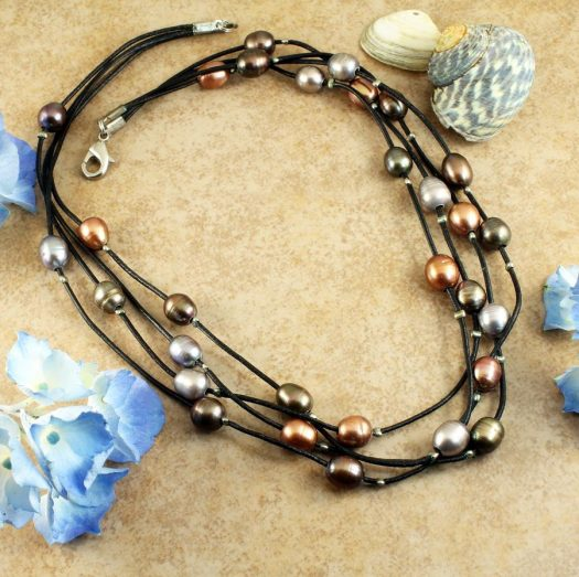 Floating Pearl Necklace N-0267-j