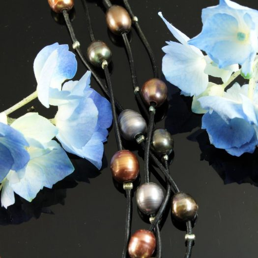 Floating Pearl Necklace N-0267-k