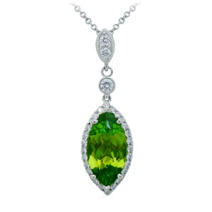 Baroque peridot jewellery
