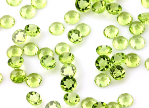 Peridot round gemstones 4mm